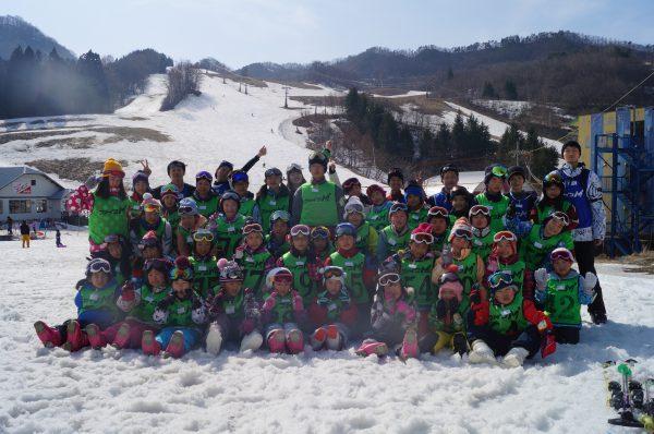 スキー集合写真