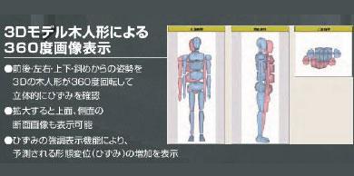 3DのCGイメージでご自身の姿勢が立体的にわかる